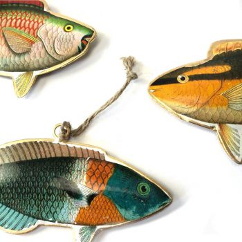Fish pacific, set of 3