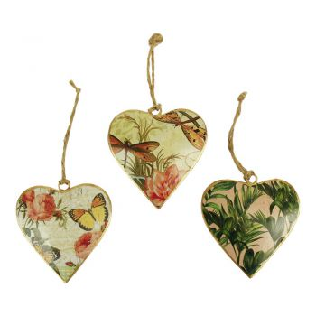 Hearts Nature S, set of 3
