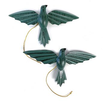 Pagaro Green, set of 2