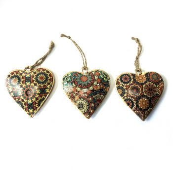 Hanging Hearts Tiles, set of 3