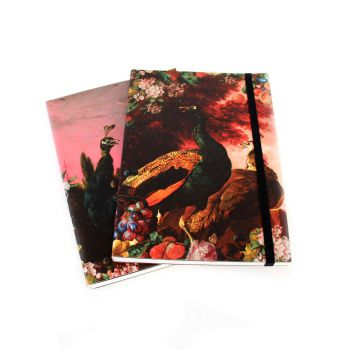 Peacock notebooks, set of 2