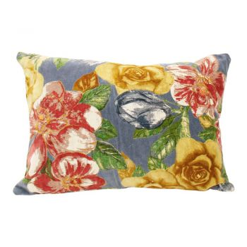 Cushion Misty Bloom S Grey