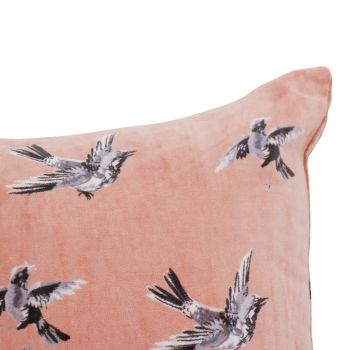 Cushion Swinging bird Salmon