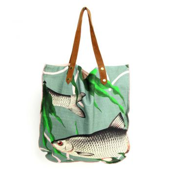 Shopper Fishes together Green
