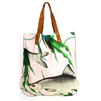 Shopper Fishes together Pink