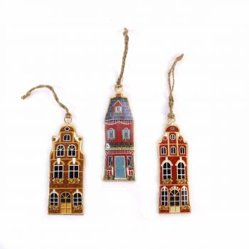 Hanging Houses Classic, set of 3
