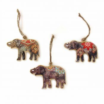 Hanging Elephant S, set of 3