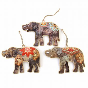 Hanging Elephant M, set of 3