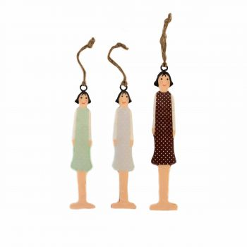 Hanging Lady's, set of 3