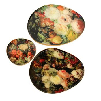 Plates Kiki, set of 3
