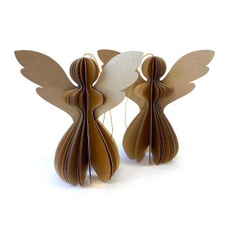 Angel Gabriela S Gold, set of 2