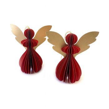 Angel Gabriela S Red, set of 2