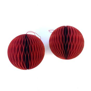 Ball Spot L Red, set of 2