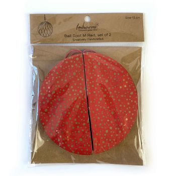 Ball Spot M Red, set of 2