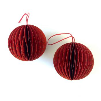 Ball Spot S Red, set of 2