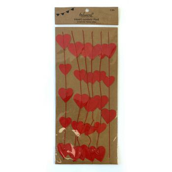 Heart confetti Red